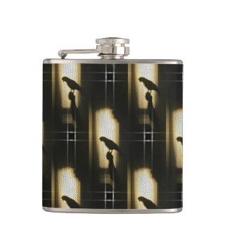 オウムの影のシルエット フラスク