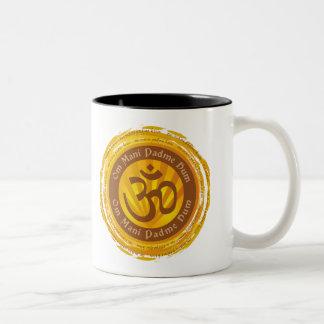 オウムの記号を用いるチベットの信念 ツートーンマグカップ