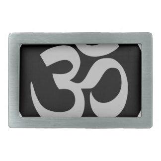 オウムの記号、銀および黒 長方形ベルトバックル