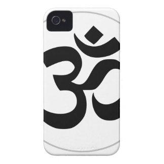 オウムの記号(銀製のリングとの黒) Case-Mate iPhone 4 ケース
