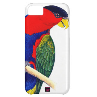 オウムの赤く青い熱帯雨林の鳥 iPhone5Cケース