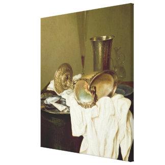 オウムガイのコップが付いている静物画 キャンバスプリント