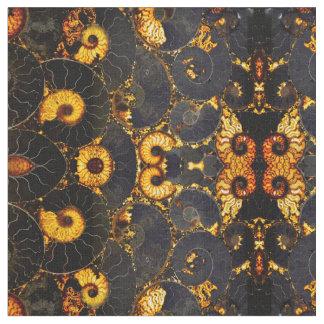 オウムガイの貝のデザイン ファブリック