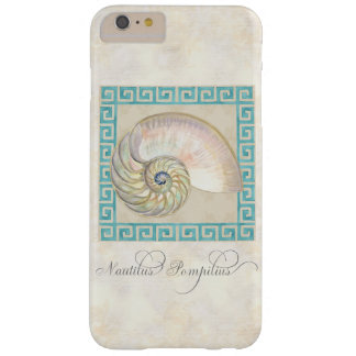 オウムガイの貝の水彩画のギリシャ人の鍵のダマスク織のビーチ BARELY THERE iPhone 6 PLUS ケース