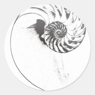 オウムガイの貝1 ラウンドシール