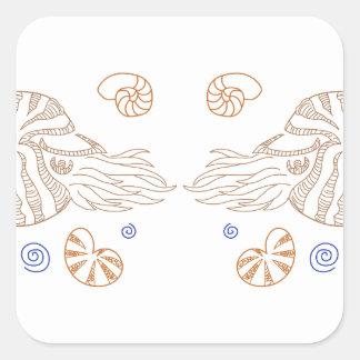 オウムガイの貝 スクエアシール