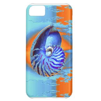 オウムガイの青かオレンジ iPhone5Cケース