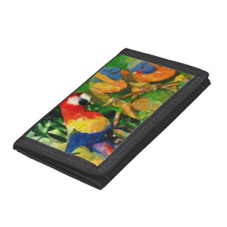 オウム1つの芸術的な財布