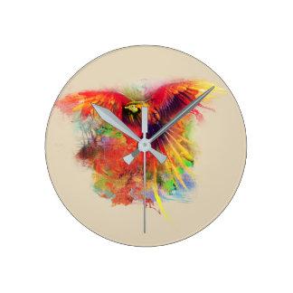 オウム ラウンド壁時計