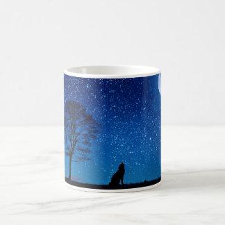 オオカミおよび完全なmooon コーヒーマグカップ