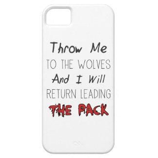オオカミに私を-やる気を起こさせるな引用文投げて下さい iPhone SE/5/5s ケース