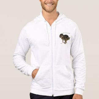 オオカミのアメリカの服装カリフォルニアフリースのジッパーのフード付きスウェットシャツ パーカ