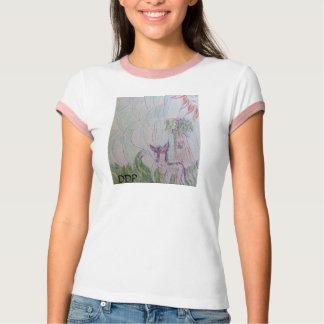 オオカミのカラフル Tシャツ