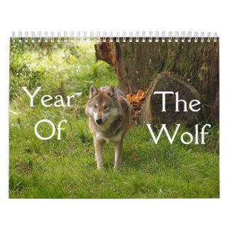 オオカミのカレンダーの年 カレンダー