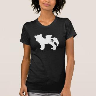 オオカミのスカルのティー-黒 Tシャツ
