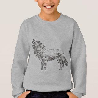 オオカミのスケッチ スウェットシャツ