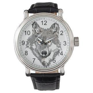 オオカミのデザイン 腕時計