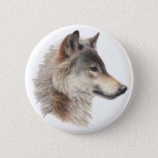 オオカミのプライド 5.7CM 丸型バッジ