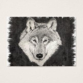 オオカミのプロフィールカードの目 名刺