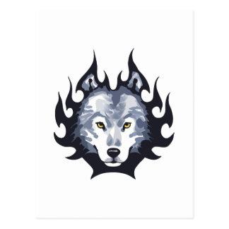 オオカミのヘッド媒体 ポストカード