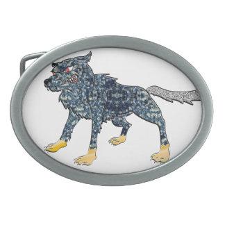 オオカミのベルトの留め金 卵形バックル