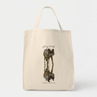 オオカミのポートレートの運バッグのコレクション トートバッグ