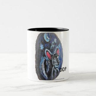 オオカミのポートレート ツートーンマグカップ