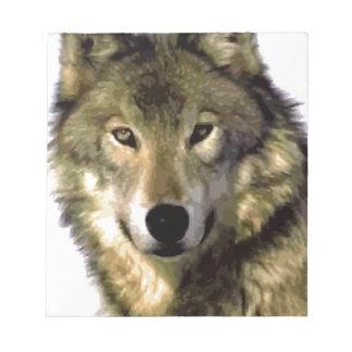 オオカミのポートレート ノートパッド