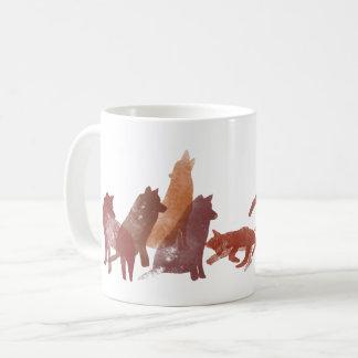 オオカミのマグ コーヒーマグカップ