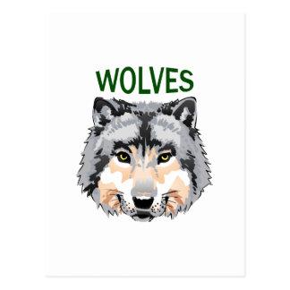 オオカミのマスコット ポストカード