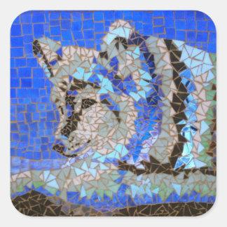 オオカミのモザイク スクエアシール