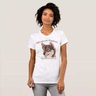 """オオカミのワイシャツは""""根絶しないために""""教育しません Tシャツ"""
