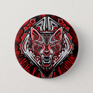 オオカミの入れ墨のスタイルのHaidaの芸術の円形ボタン 5.7cm 丸型バッジ