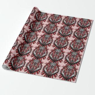 オオカミの入れ墨のスタイルのHaidaの芸術の無光沢の包装紙 ラッピングペーパー