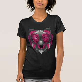 オオカミの女性 Tシャツ