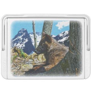 オオカミの子犬および山の野性生物の写真 IGLOOクーラーボックス
