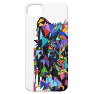 オオカミの抽象的な正面図の電話箱 iPhone SE/5/5s ケース