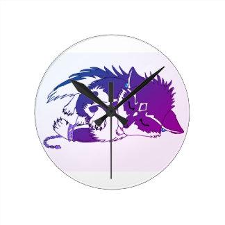 オオカミの時計 ラウンド壁時計