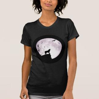 オオカミの月およびワシ Tシャツ