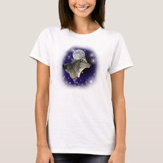 オオカミの月及び星 Tシャツ