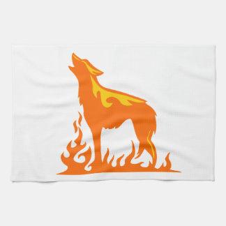 オオカミの炎 キッチンタオル