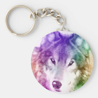 オオカミの熟視の芸術 キーホルダー