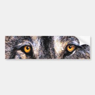 オオカミの目 バンパーステッカー