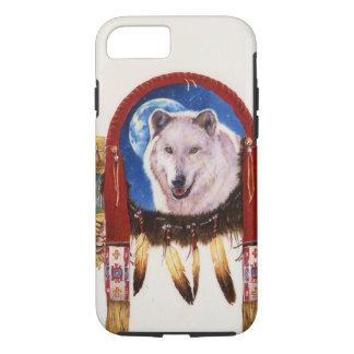 オオカミの盾のネイティブアメリカン iPhone 8/7ケース