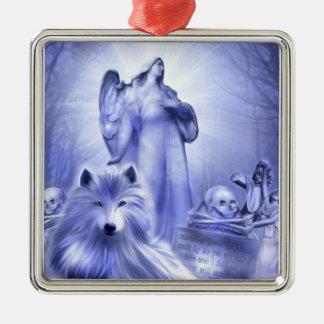 オオカミの精神のオーナメント メタルオーナメント