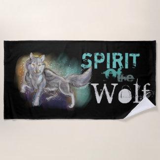 オオカミの精神 ビーチタオル