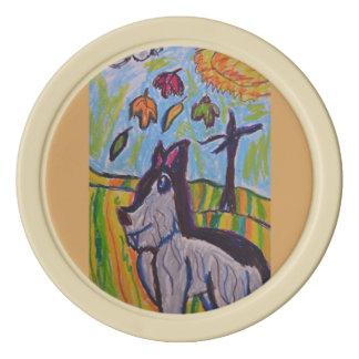 オオカミの芸術4 ポーカーチップ