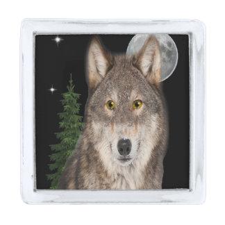 オオカミの芸術 シルバー ラペルピン