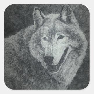 オオカミの芸術 スクエアシール