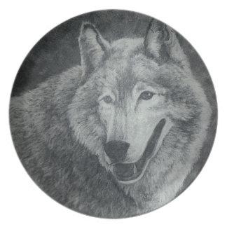 オオカミの芸術 プレート